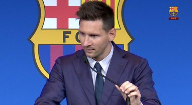 Messi shpërthen në lot në fillim të konferencës