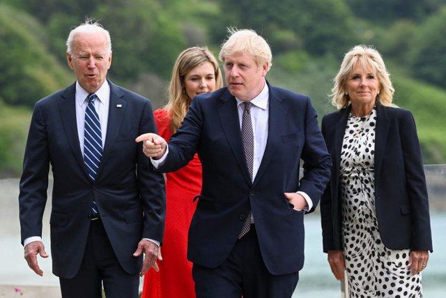 """Takimi i Joe Biden me Kryeministrin britanik Boris Johnson, """"një"""