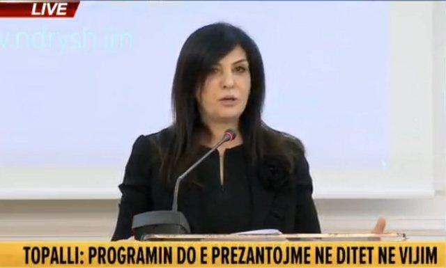 Jozefina Topalli nis fushatën për Tiranën, prezanton