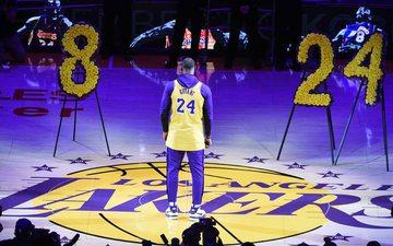 Momentet prekëse: LA Lakers i jep lamtumirën Kobe Bryant