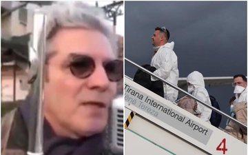 Nga ballkoni, ky qytetar italian luan himnin shqiptar në shenjë