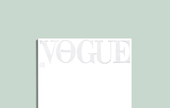 Kopertina e Vogue Italia për prillin është thjesht një faqe