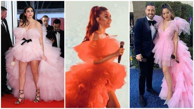 Vazhdon trendi i fustanit që magjepsi VIP-et shqiptare dhe të huaja