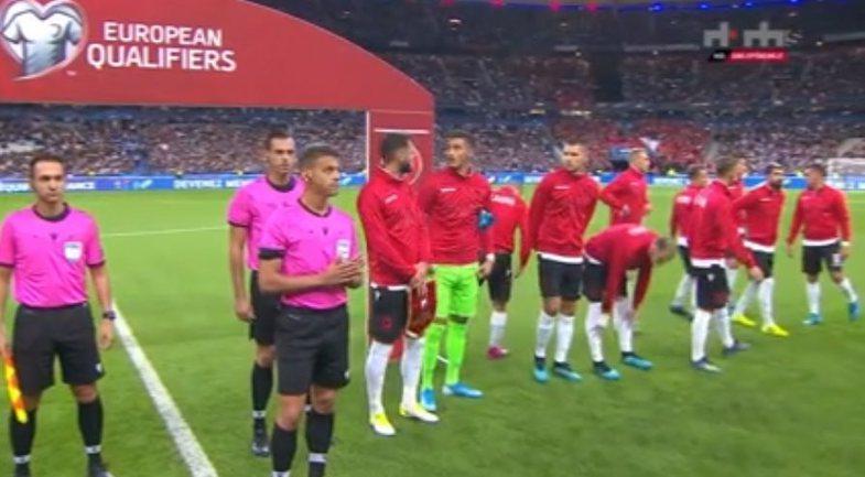 Flet fajtori i gafës në ndeshjen Francë-Shqipëri: