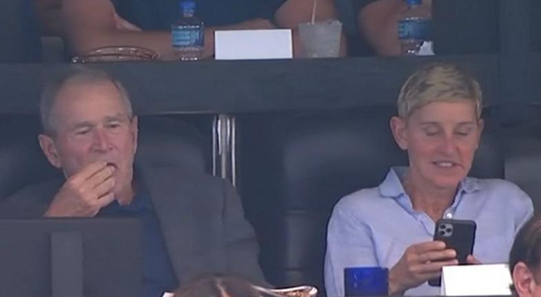 Fansat nevrikosen se Ellen është shoqe me George W. Bush