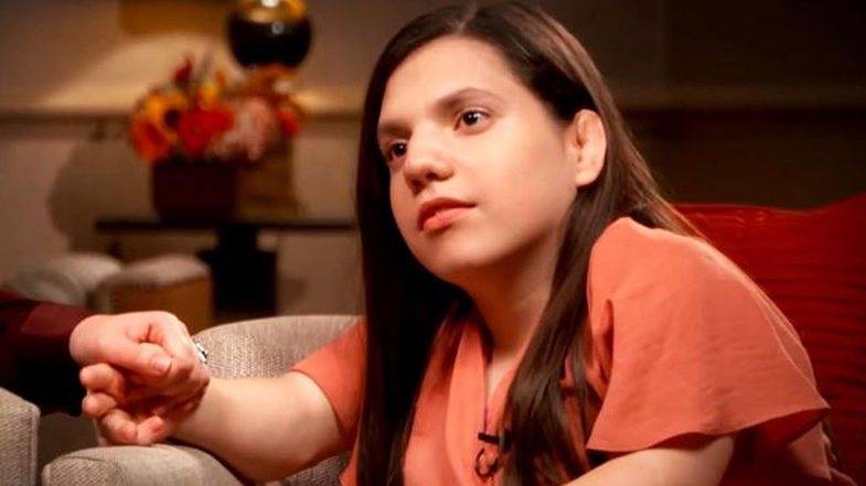 The adopted girl who was accused of being a child gives the first statement