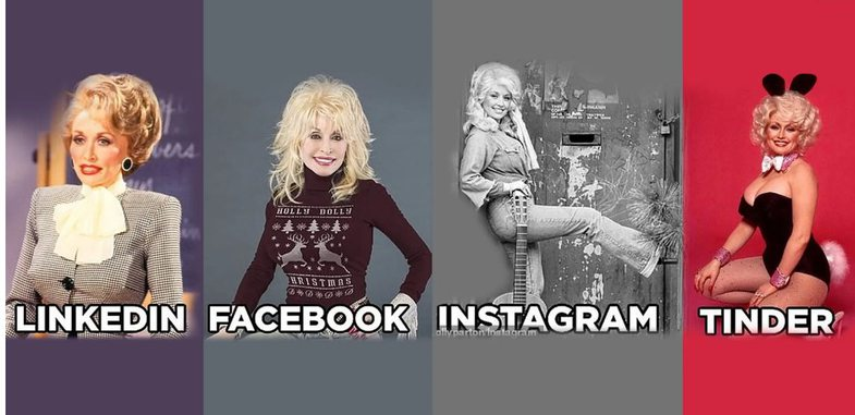 Si janë të famshmit në LinkedIn, Facebook, Instagram dhe Tinder
