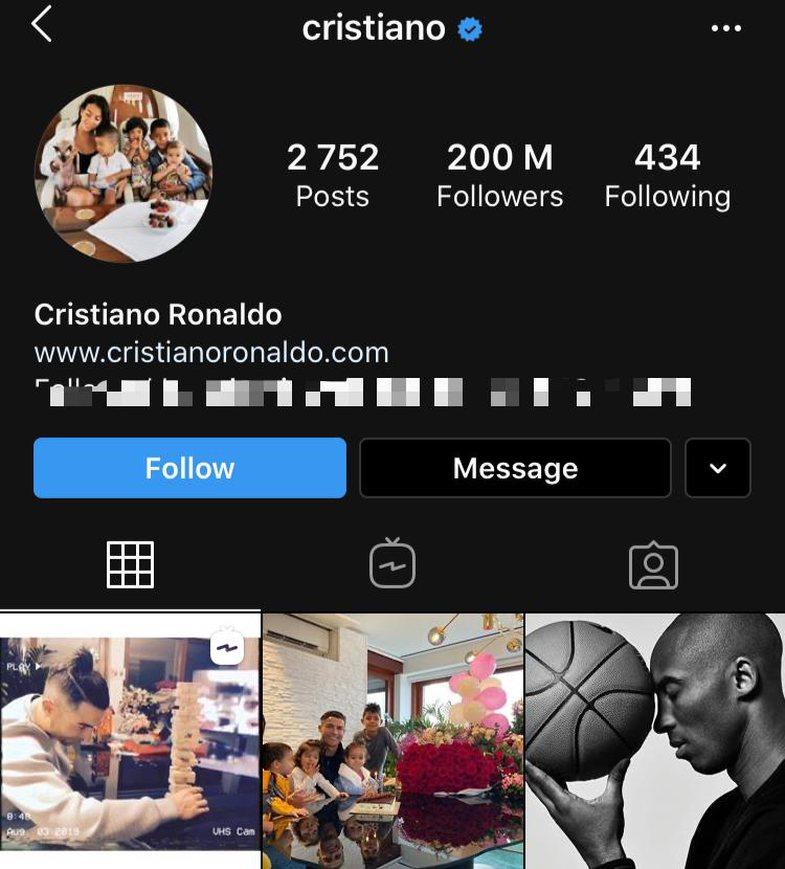 WOW! Cristiano Ronaldo arrin një super rekord në Instagram