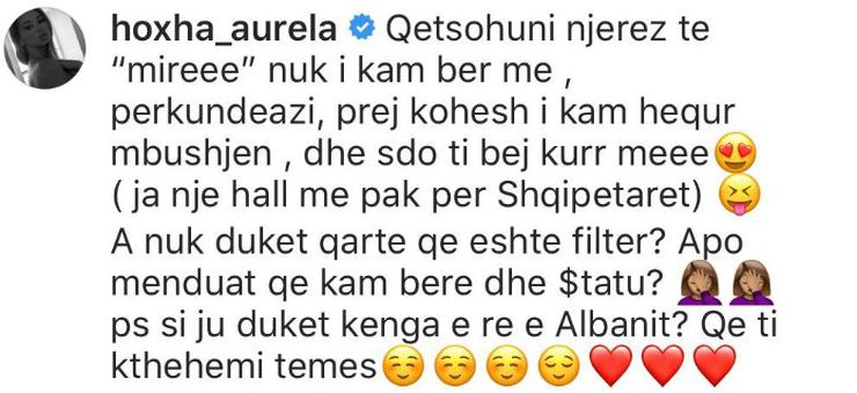 Ndjekësit s'i pëlqejnë buzët e Aurela Hoxhës pasi