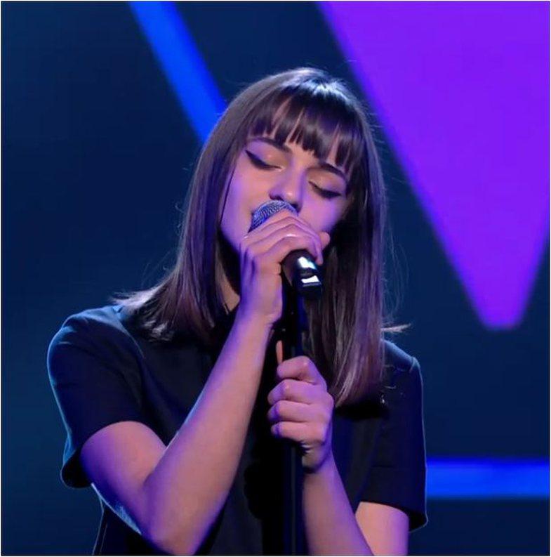 Vajza e Robert Aliajt mahnit jurinë e The Voice Kids në Belgjikë