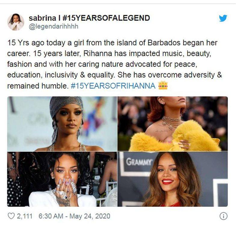Plot 15 vjet: Rihanna kujton me nostalgji fillimin përmes këtij