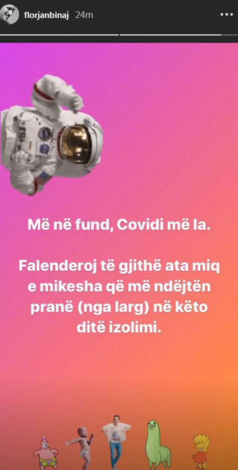 Florjan Binaj shërohet nga Covid-19