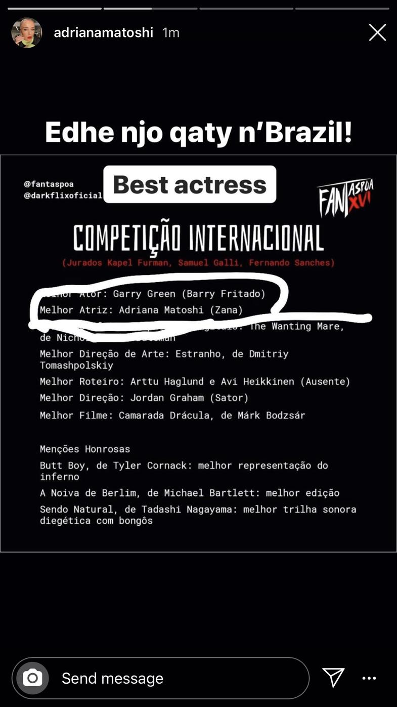 Aktorja shqiptare vlerësohet me çmimin 'Aktorja më e