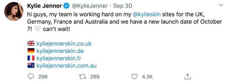 Kylie Jenner bëri një 'gafë' të vogël dhe
