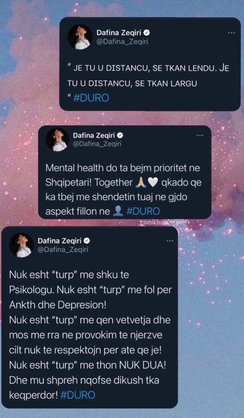 Dafina Zeqiri flet për shëndetin mendor, përmes një