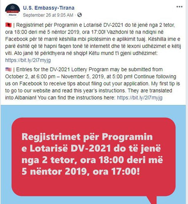 dv lottery albania