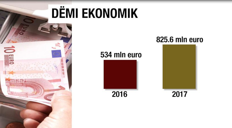 Abuse of funds, economic damage for 2017, 110.5 B LEK