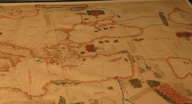 "Special exhibition, ""Skanderbeg"" map on display"