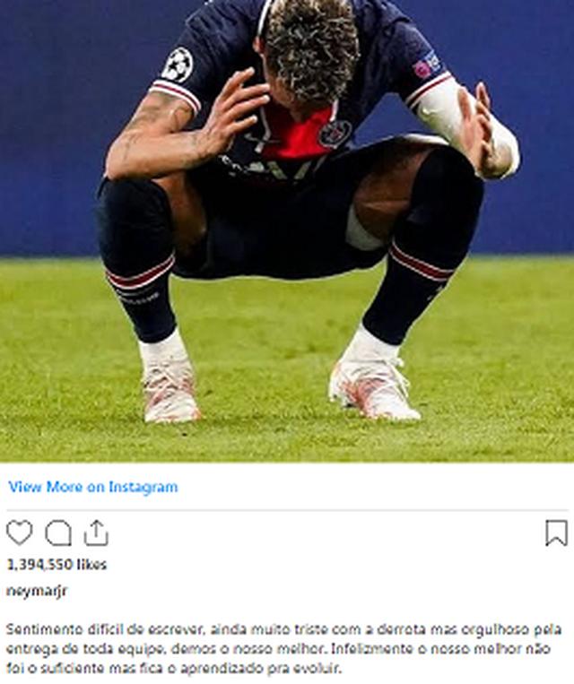 Neymar ende i trishtuar: Eliminimi, një leksion që të rritemi