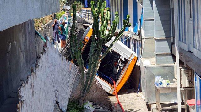 Tragjedi në Kapri/ Autobusi me pasagjerë rrëzohet nga 6 m