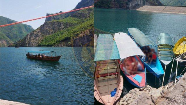 Policia bllokon varkat me turistë në Koman