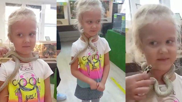 Video virale/ Gjarpri kafshon 5 vjeçaren teksa pozon para kameras