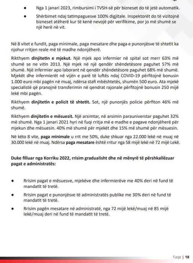 """""""Rama 3"""": Rritja e pagave nis në korrik 2022. Kategoritë"""