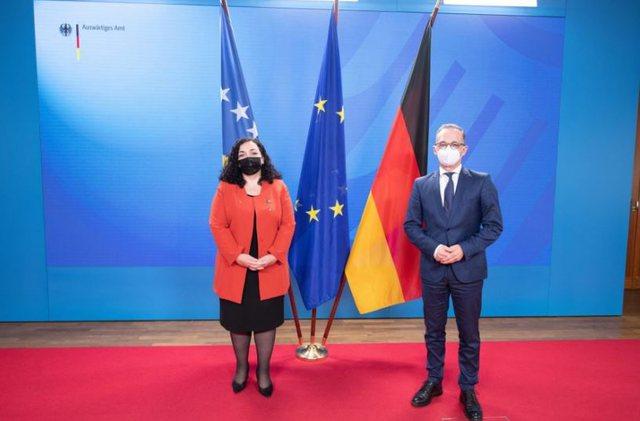 Osmani takon ministrin Maas: Dialogu me Serbinë të