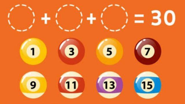 A mund të arrini ta fitoni numrin 30, me një kombinim të tre