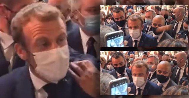 Video/ Presidentit francez i ndodh e papritura, e sulmojnë me vezë