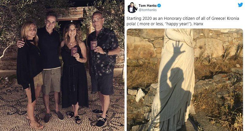 Tom Hanks dhe bashkëshortja e tij marrin nënshtetësi greke