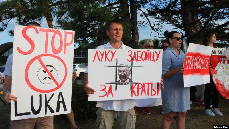 SHBA, bjellorusët protestojnë në mbështetje të vendit