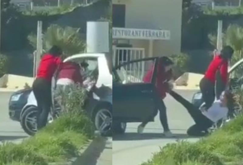 VIDEO/ Sherr i pazakontë mes vajzave në Durrës, e tërheq