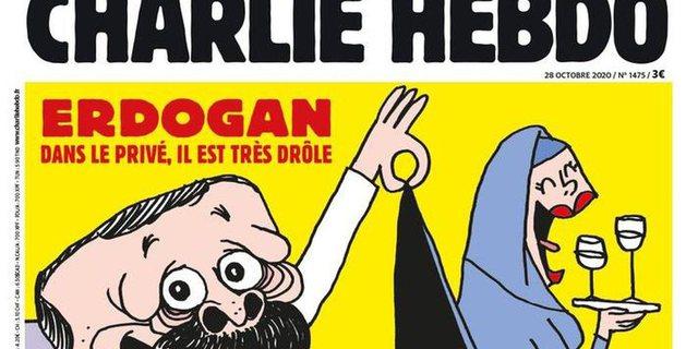 """Karikatura e Erdogan në revistën """"Charlie Hebdo"""", reagon"""