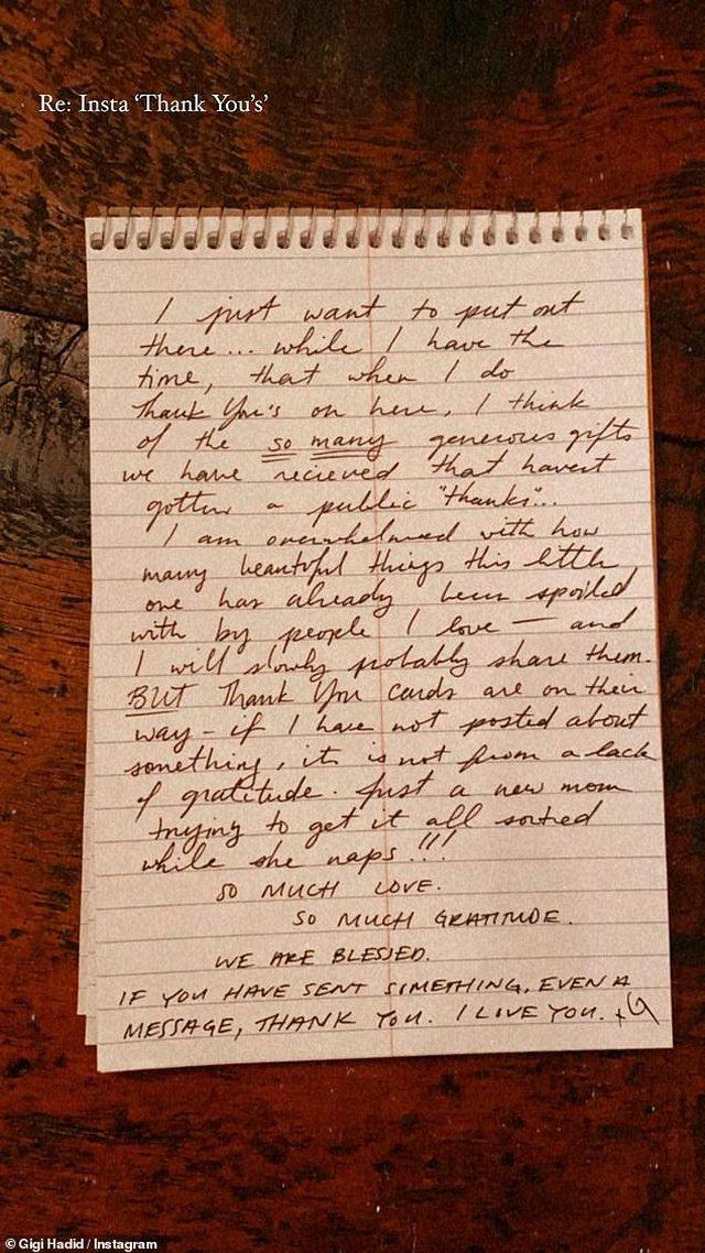 Letra emocionuese e Gigi Hadid për fansat: Jam një