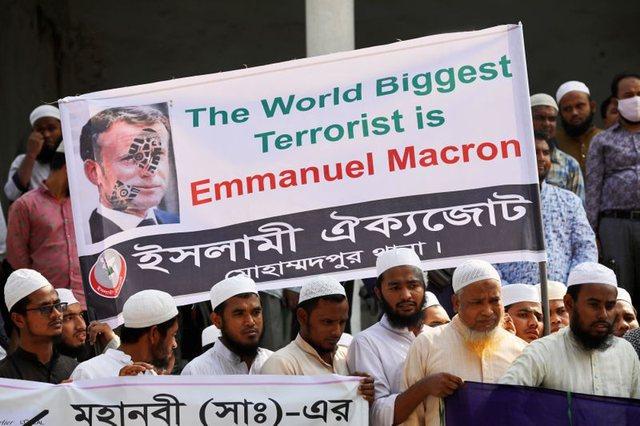 Vrasjet në Francë shkaktojnë protesta në Bangladesh
