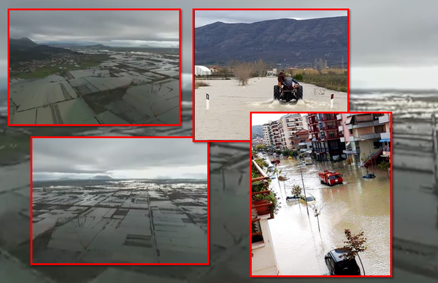 Evakuohen familjet/ Si paraqitet situata në zonat e përmbytura, akset