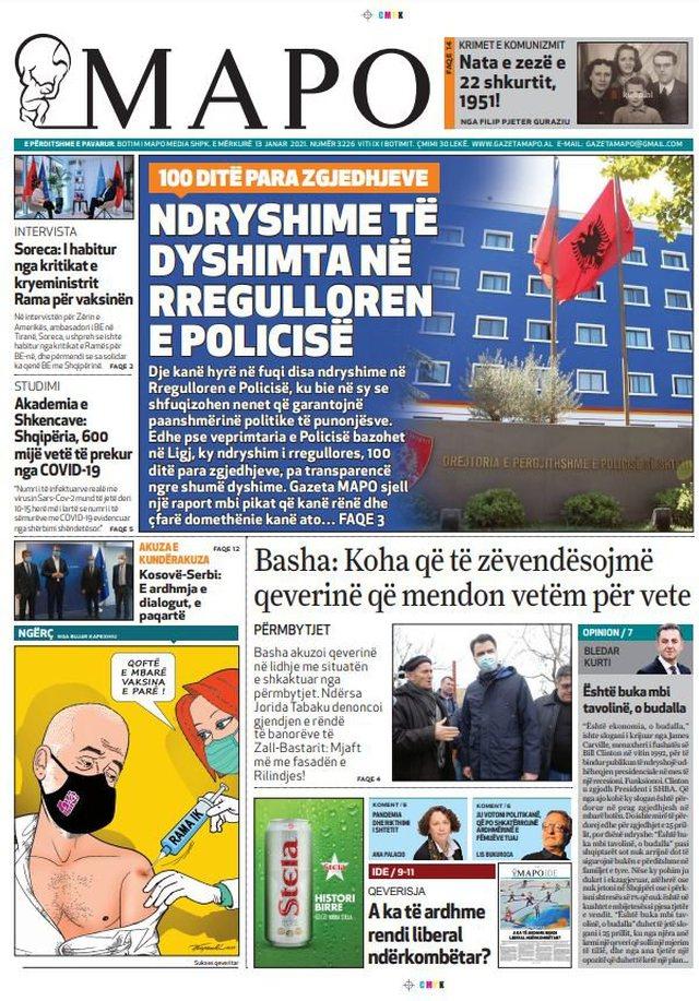 "Shtypi i ditës/ ""Ambasadori i BE, Soreca sulmon kryeministrin"