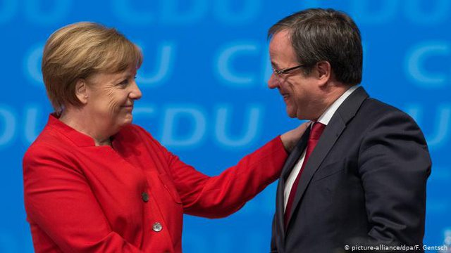 Armin Laschet is elected the new leader of the CDU, known as Angela