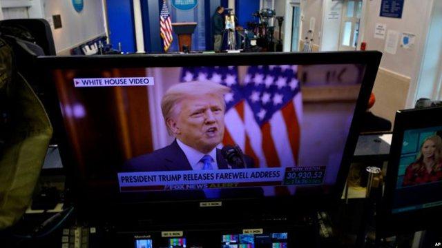 SHBA/ Në fjalën e lamtumirës Trump uron administratën e re,