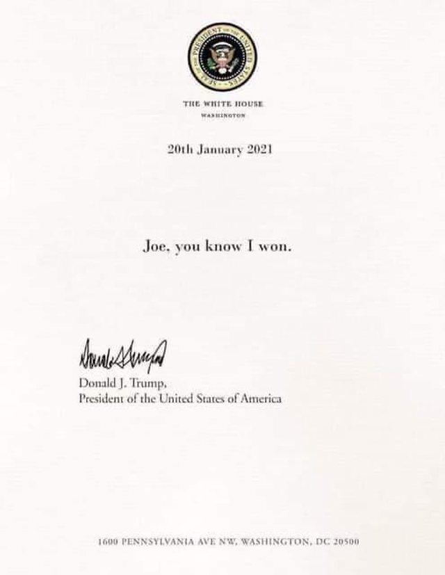 Trump nuk mori pjesë në inaugurimin e Biden, por i la një