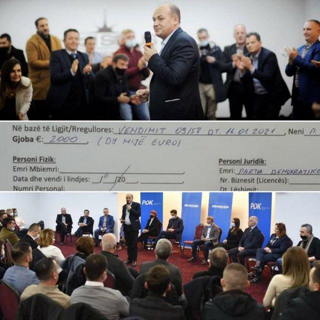 Nuk respektuan masat anti-Covid, gjobiten me 14 mijë euro partitë