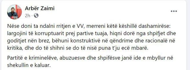 Zyrtari i LVV këshillon kundërshtarët: Vetëm kështu