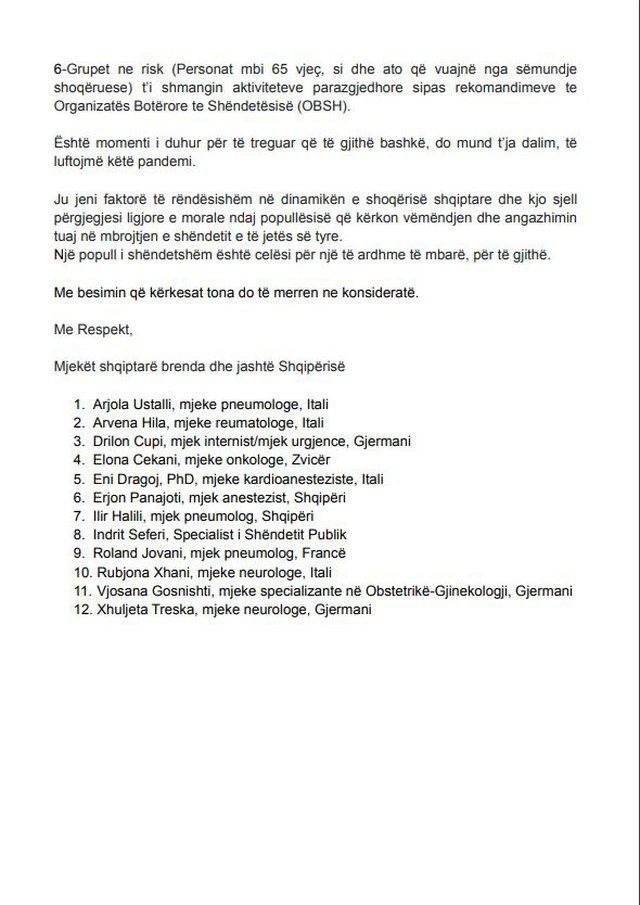 Zgjedhjet e 25 prillit, mjekët shqiptarë i dërgojnë