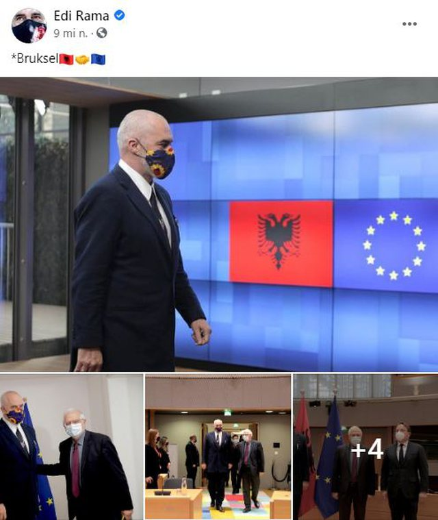 Rama posts photos from Brussels, meets with Borrell and Varhelyi