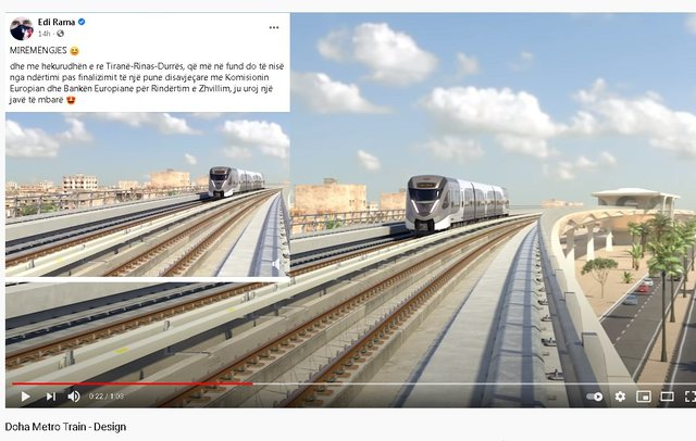 Tirana-Durrës Railway, Rama 'sold' us a 3D project copied from