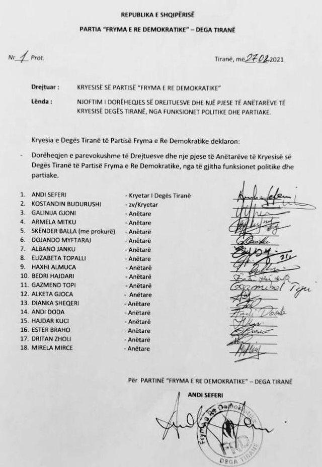 Pas largimit të Bamir Topit, dorëhiqen 18 anëtarë të