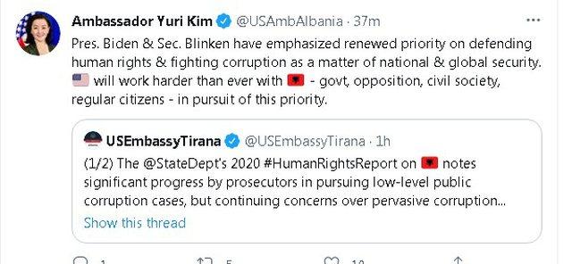 Raporti i DASH për Shqipërinë, reagon Kim: Prioritet lufta ndaj