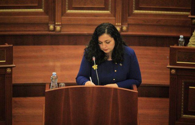 Fjalimi i parë i Vjosa Osmanit si Presidente e Kosovës: Jemi model