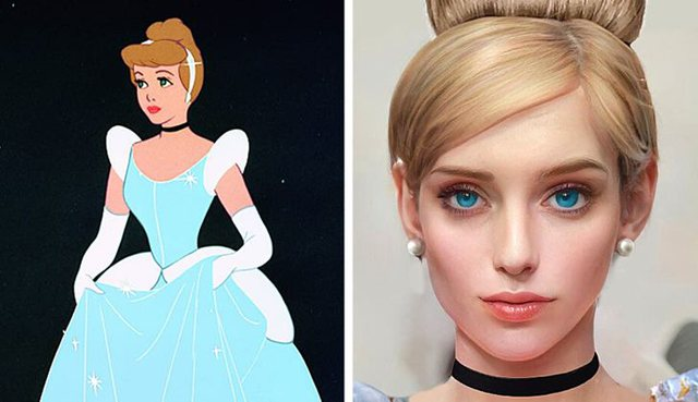 What would the cartoon characters look like as people